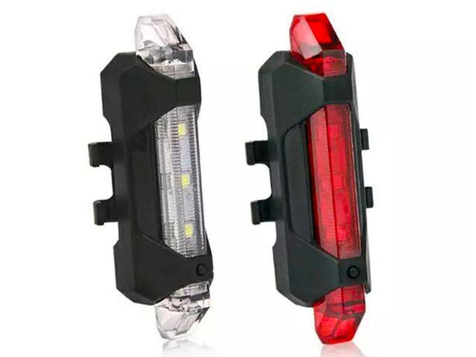Комплект фонарей для велосипеда USB DC-918