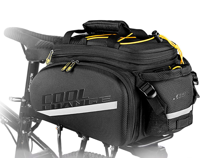 Велосипедная сумка на багажник CoolChange Bag 1680D PU (35L) Black