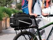 Велосипедная сумка на багажник CoolChange Bag 1680D PU (35L) Black - Фото 9