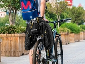 Велосипедная сумка на багажник CoolChange Bag 1680D PU (35L) Black - Фото 10