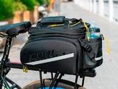 Велосипедная сумка на багажник CoolChange Bag 1680D PU (35L) Black - Фото 8