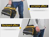 Велосипедная сумка на багажник CoolChange Bag 1680D PU (35L) Yellow - Фото 13