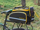 Велосипедная сумка на багажник CoolChange Bag 1680D PU (35L) Yellow - Фото 14