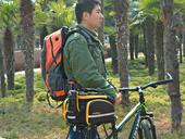 Велосипедная сумка на багажник CoolChange Bag 1680D PU (35L) Yellow - Фото 15