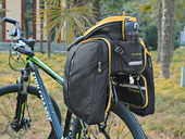 Велосипедная сумка на багажник CoolChange Bag 1680D PU (35L) Yellow - Фото 17