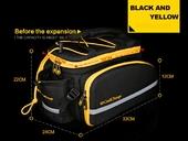Велосипедная сумка на багажник CoolChange Bag 1680D PU (35L) Yellow - Фото 23