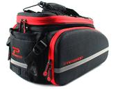 Велосипедная сумка на багажник PROMEND 1680D PU (35L) Red - Фото 0