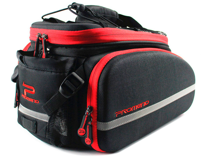 Велосипедная сумка на багажник PROMEND 1680D PU (35L) Red