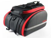 Велосипедная сумка на багажник PROMEND 1680D PU (35L) Red - Фото 1