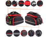 Велосипедная сумка на багажник PROMEND 1680D PU (35L) Red - Фото 3