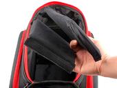 Велосипедная сумка на багажник PROMEND 1680D PU (35L) Red - Фото 4