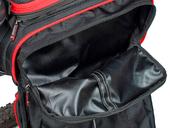 Велосипедная сумка на багажник PROMEND 1680D PU (35L) Red - Фото 6