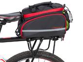 Велосипедная сумка на багажник PROMEND 1680D PU (35L) Red - Фото 7