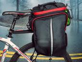 Велосипедная сумка на багажник PROMEND 1680D PU (35L) Red - Фото 8