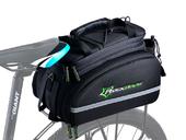 Велосипедная сумка на багажник RockBros 240D PU (35L) Black - Фото 0
