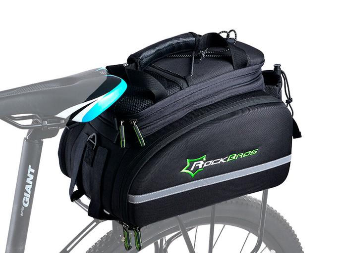 Велосипедная сумка на багажник RockBros 240D PU (35L) Black