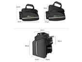 Велосипедная сумка на багажник RockBros 240D PU (35L) Black - Фото 2
