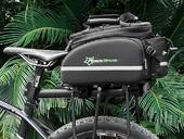 Велосипедная сумка на багажник RockBros 240D PU (35L) Black - Фото 6
