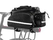 Велосипедная сумка на багажник RockBros 240D PU (35L) Carbon - Фото 0
