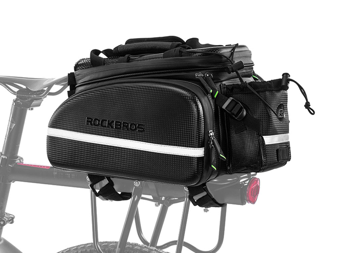 Велосипедная сумка на багажник RockBros 240D PU (35L) Carbon