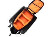 Велосипедная сумка на багажник RockBros 240D PU (35L) Carbon - Фото 3