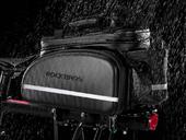 Велосипедная сумка на багажник RockBros 240D PU (35L) Carbon - Фото 10