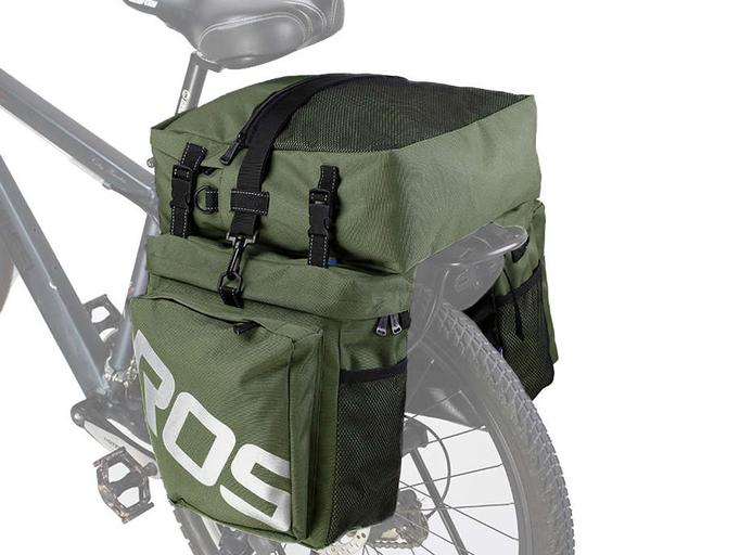 Велосипедная сумка на багажник Roswheel 1000D (37L) Green Khaki