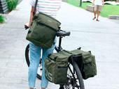 Велосипедная сумка на багажник Roswheel 1000D (37L) Green Khaki - Фото 1