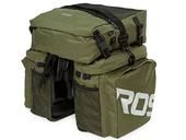 Велосипедная сумка на багажник Roswheel 1000D (37L) Green Khaki - Фото 5