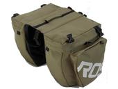 Велосипедная сумка на багажник Roswheel 1000D (37L) Green Khaki - Фото 6
