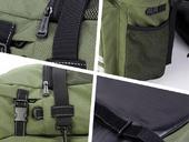 Велосипедная сумка на багажник Roswheel 1000D (37L) Green Khaki - Фото 9