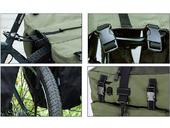 Велосипедная сумка на багажник Roswheel 1000D (37L) Green Khaki - Фото 10