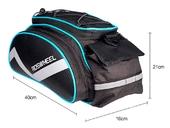 Велосумка на багажник Roswheel Bag 300D PU (13L) Blue - Фото 3