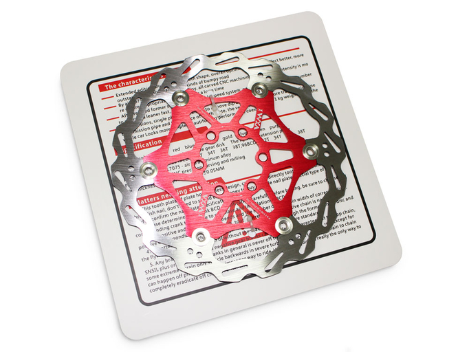 Тормозной диск (ротор) для велосипеда VXM 160mm (red)