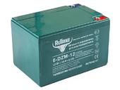 Свинцово-кислотный тяговый гелевый аккумулятор RuTrike 6-DZF-12 (12V12A/H C2) - Фото 0