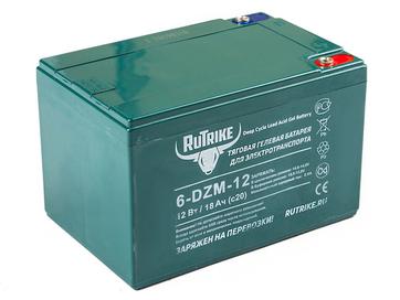 Свинцово-кислотный тяговый гелевый аккумулятор RuTrike 6-DZM-12 (12V12A/H C2) - Фото 0