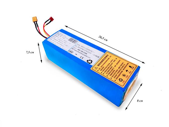 Литиевый аккумулятор для электровелосипеда Li-ion 18650 36В 10Ач 25А