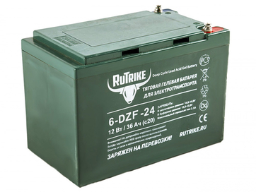 Свинцово-кислотный тяговый гелевый аккумулятор RuTrike 6-DZF-24 (12V24A/H C2)
