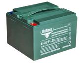 Свинцово-кислотный тяговый гелевый аккумулятор RuTrike 6-DZF-28 (12V28A/H C3) - Фото 0