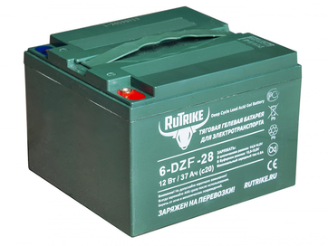 Свинцово-кислотный тяговый гелевый аккумулятор RuTrike 6-DZF-28 (12V28A/H C3)