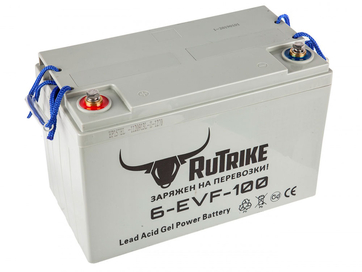 Свинцово-кислотный тяговый гелевый аккумулятор RuTrike 6-EVF-100A (12V100A/H C3)