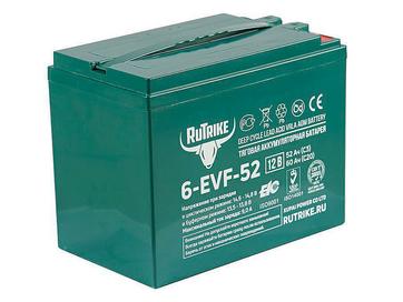 Тяговый гелевый аккумулятор RuTrike 6-EVF-52 (12V52A/H C3) - Фото 0