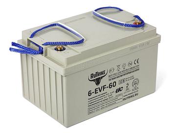 Тяговый гелевый аккумулятор RuTrike 6-EVF-60 (12V60A/H C3) - Фото 0