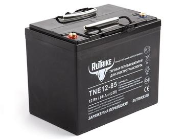 Тяговый гелевый аккумулятор RuTrike TNE 12-85 (12V70A/H C3) - Фото 0