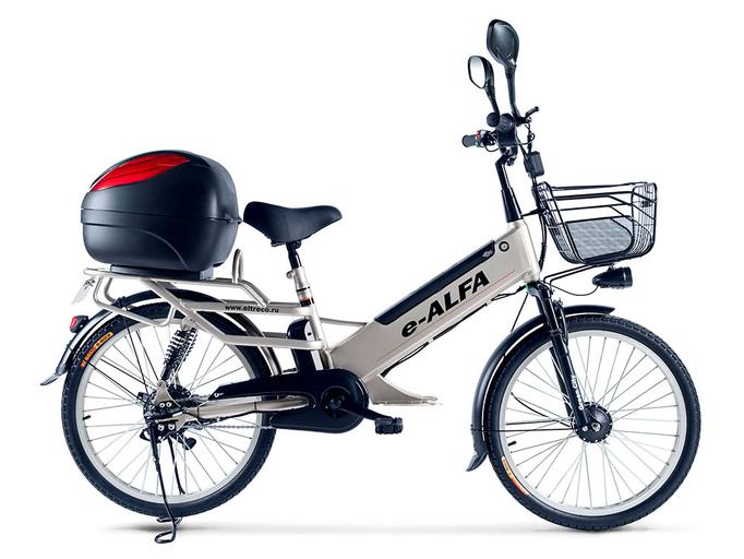 Электровелосипед Green City e-ALFA L с кофром