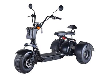 Электротрицикл Citycoco 1500W 20AH Black - Фото 0