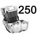 250 кубов