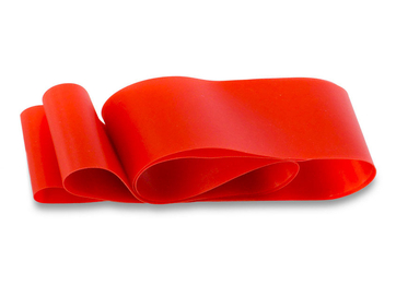 Ободная нейлоновая красная лента для фэтбайка на обод 26 - Фото 0