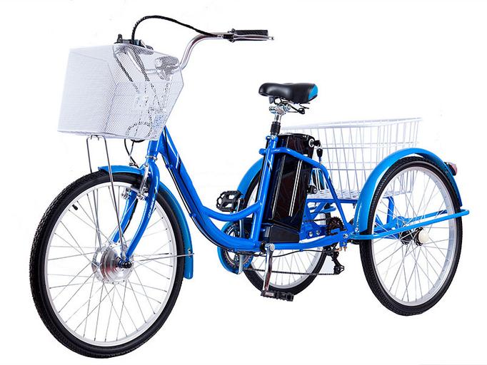 Электровелосипед трицикл Crolan 350W