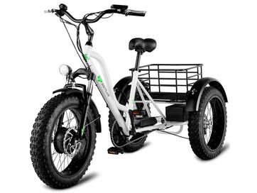 Трехколесный электрофэтбайк трицикл Grizzly M5